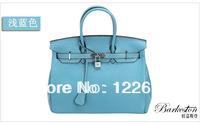 2014 new female bag head layer cowhide leather handbag casual litchi grain handbag free shipping B-19