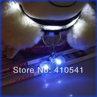New Arrival Free Shipping 50MM*33MM*18MM  MIX Colors 30pcs/lot Colorful Bone Pet  LED Safety Tags  Pet Collar LED Pet Pendant