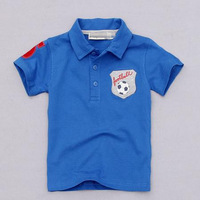 Free Shipping new 2014 Handsome Footbal Children T-shirts for boys clothes age 2 to 8 Limited Qty