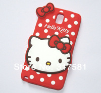Silicone Phone shell ,Note3  Red Hello Kitty  Mobile protective shell / Phone sets