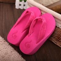 Fashion Casual Womens Wedge Platform Flip Flops Thong Sandals Shoes Beach Slipper New Free shipping