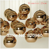 Modern Minimalist Plating Decorative Glass Ball Chandelier Restaurant Lights Staircase Lighting Lamps Diameter 25cm