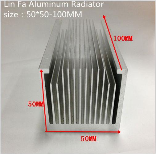 1 pcs LED heat sink/Aluminum/profile radiator-fan panel radiator 50 50-100mm IC heat sink/LED Aluminum(China (Mainland))