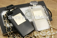 Perfume Bottle Design Clear Case For iPhone 5 5g with a metal strap