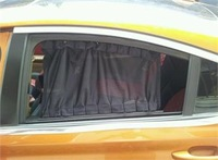 Car 50cm x 40cm Black Sun Shade Blinds Sun Shield 2PCS Black Mesh Window Curtain   21053