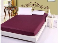 Free Shipping!! Professional Custom Made 100% Satin Cotton Solid Color Four Corners Elastic 1 Piece Mattress Cover