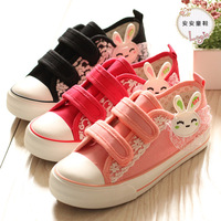 2014 new fashion low canvas shoes female children princess shoes girls shoes lace kids sneakers size 23-33