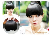 2013 new fashion lifelike hair wigs with bangs hoop flow of Qi Haiping bangs wig piece four colors