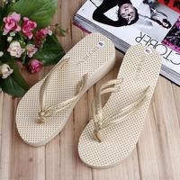 2014 Free Shipping Summer sandals platform wedges flip flops dot flip paltform beach sandals female slippers