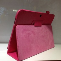Free Shipping Luxury Crazy Horse PU Leather Stand Case Back Cover Holder For For Samsung GALAXY Tab 3 10.1 For P5200