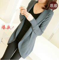 100% cow stock ! Spring European station explosion models sweater coat women 's long sleeve long cardigan large size 1346