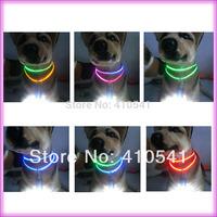 New Arrival Free Shipping Pet Dog Cat Adjustable Stylish Remote LED Dog Nylon Flashing Glow Collar Night Safety LED Pet Collar