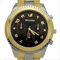 The new fashion luxury quartz watch men personality charm steel band watch