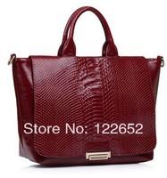 Serpentine texture female bag 2014 new female fashional handbags free shipping B-24