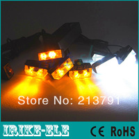 2014 New Amber/white  8x2 16LED Car Truck Strobe Flashing Emergency Grill lights Beacon Flash Light