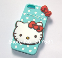 5 / 5s Silicone Phone shell , Blue Hello Kitty  Mobile protective shell / Phone sets
