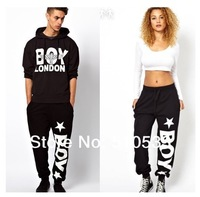 2014 New Women Men Hip Hop Style Boy London Printed Sport Pants Loose Harem Pants Casual Trousers free ship