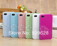 2014 New designer 3D Stereo fresh flower sculpture plastic hard case back cover for iphone 5/5s 4/4s free shipping