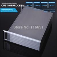 19 inch 2 u  Full aluminum Power amplifier chassis/ AMP case Enclosure / headphone amp box PSU box DIY