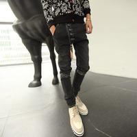 Harem pants Skinny jeans Denim Dark color Personality Dark. Light Men's.Free shipping Famous brand New 2014