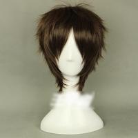 Ziyanshop Eren Yeager - Attack on Titan Shingeki no Kyojin, Brown color 35cm/13.77in short hair full wig with free cap