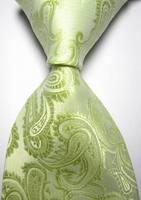 New Green Paisley JACQUARD WOVEN Men's Tie Necktie  018