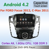 Pure Android 4.2 WiFi 3G Car DVD GPS Stereo For FORD Focus 2012 C-Max 2011 with Radio RDS BT IPOD TV Capacitive Screen Free map