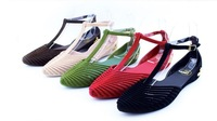 2014 Summer Hotsale Fashion sexy madden and  Girls Sandals Wedges Ankle for Women t-tied  and cut-outs Flat shoes /Free shipping