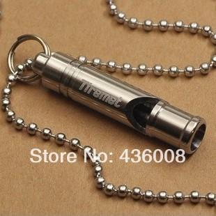 titanium lifesaving whistle outdoor survival whistle survival whistle camping hiking equipment titanium_X074(China (Mainland))