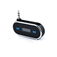 Wireless 3.5mm In-car LCD Display Fm Transmitter for Apple iPhone 5 Samsung Galaxy S2 i9100 SII S3 i9300 SIII MP3 player Tablet