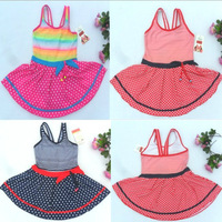 Fashion   Korean   Style   Girls   Swimsuit      Rainbow  And     Dot   Swimwear     Bathing   wear   Beach  wear