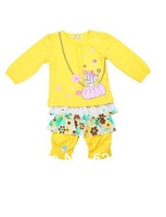 FREE SHIPPING HAPPY Brand Children BABUDOG Spring 2014 Cute Girl's Winter Dress&Girls Leggings