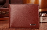 Free shipping NEW Arrival Fashion brand mens wallet, classic plaid pattern designer wallet high quality leather purse