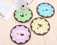 EMS Free shipping 100pcs/lot Hot Selling Creative Coasters Insulation Silicone Pad Cup Mat