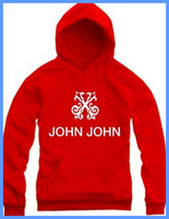 Free Shipping Hot Sale Cheap Brand John John 100% Cotton Men's Red Color Hoodies Fleece Sweater With Free Drop Shipping