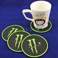 2014 the new cup mat V8 circular cup mat heat insulation cup mat fashion cup mat  green design  4pcs