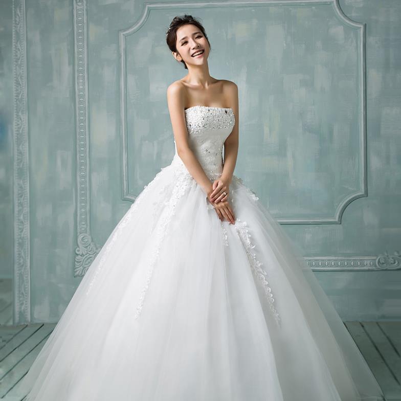 Free shipping custom made wedding dress for bridal wear royal bride dress plus size bridal gown princess wedding wear wholesale(China (Mainland))