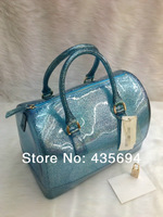 2014 New RT candy handbag,Silver Dots bag, pure candy color bags for women,hot designers purse 15A  jelly tote,lady pvc bag