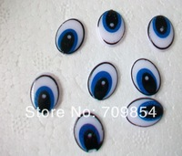 200pcs/lot wholesale 11*15mm flat back eyes paint eyes without stem BLUE