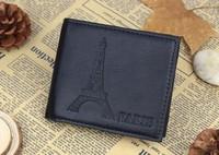 2014 fashion wallets for men three folding short money purse card holder bag casual money clip