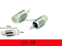 200PCS Free Shipping 12V G4 LED Lamp Bulb 3W Light Home Car RV Marine Boat LED Lighting