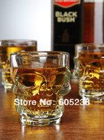 6pcs Crystal Skull Glassware / Skull Stein glass  mug Doomed