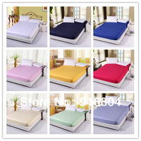 Free Shipping!! New Arrival Professional Custom Made 100% Cotton Satin Stripe Solid Color Four Corners Elastic Mattress Cover