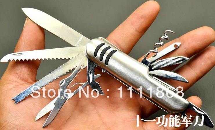 Pocket Camping Knife Multifunction swiss knife folding blade knife Stainless Steel(China (Mainland))