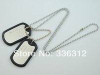 LL112074 Stainless Steel Dog Tag Pendants vintage come With free Ball Chain Double Dog tag gift