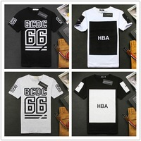 New in 2014 hba shirt dgk pyrex Street short-sleeve HARAJUKU 66 black-and-white hba letter t-shirt fashion o-neck short-sleeve