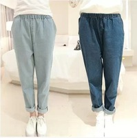 2014 spring and winter clothes new Korean version was thin elastic waist baggy jeans harem pants casual pants female tide