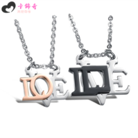 Free shipping Personalized exude male women's love letter necklace fashion romantic lovers type chain 874