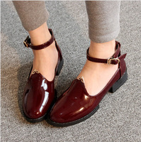 Free shipping point Buckle transparent point shoes mashup Hepburn wind flat shoes in Europe and America