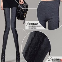 2014 new side lace leggings Slim thin pantyhose Yiwu wholesale fashion pants